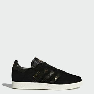 Adidas Gazelle Black Gold Beaded Tennis Shoe